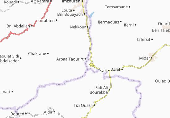 Carte-Plan Arbaa Taourirt