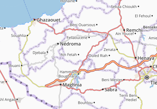 Carte Algerie Maghnia.Carte Detaillee Ain Fetah Plan Ain Fetah Viamichelin