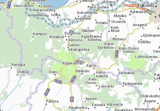 Karte Stadtplan Spilia