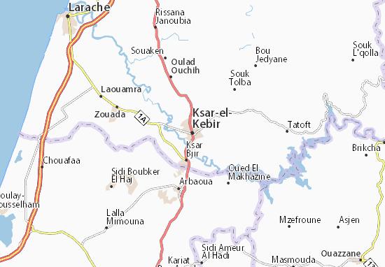 Mapa Plano Ksar-el-Kebir