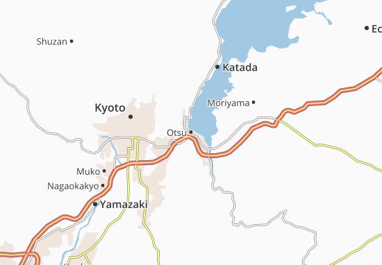 Kaart Plattegrond Otsu