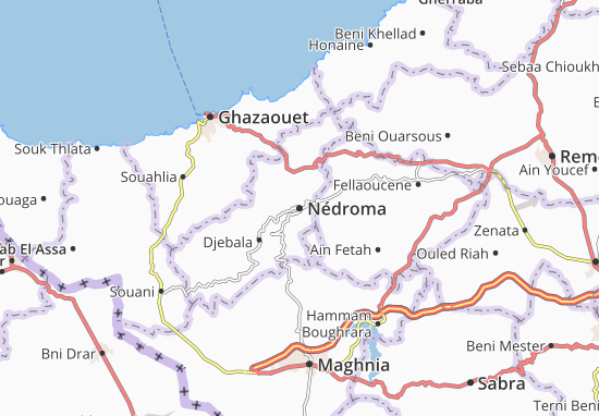 Carte Algerie Maghnia.Carte Detaillee Nedroma Plan Nedroma Viamichelin