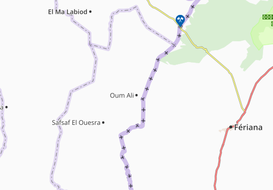 Carte-Plan Oum Ali