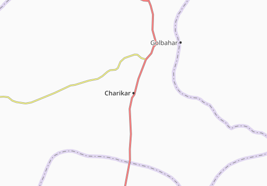 Map Of Charikar Michelin Charikar Map ViaMichelin - Charikar map