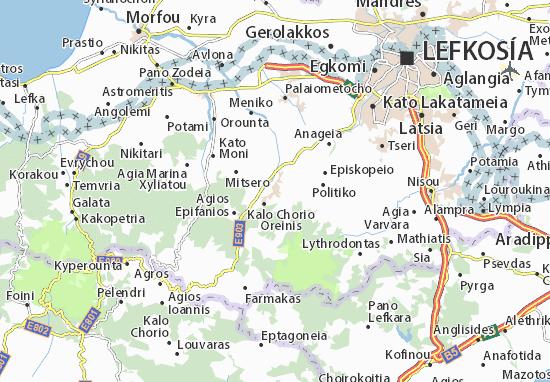 Karte Stadtplan Klirou