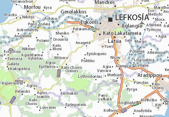 Karte Stadtplan Politiko
