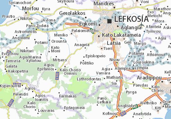 Karte Stadtplan Pera