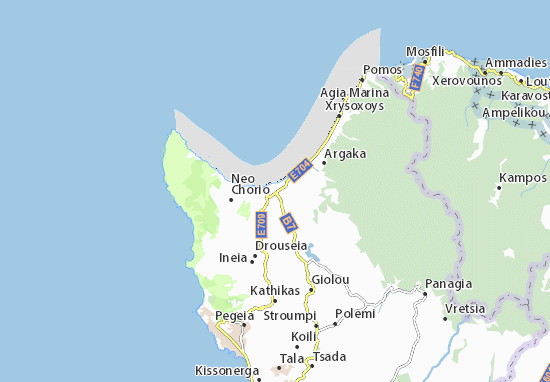 Karte Stadtplan Polis Chrysochous