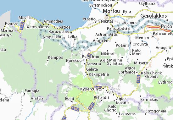 Karte Stadtplan Evrychou