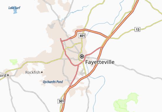 Carte-Plan Fayetteville