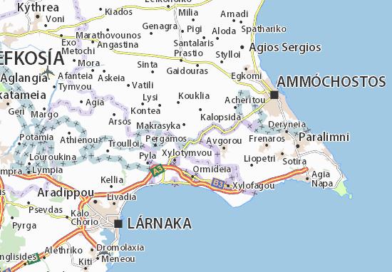 Karte Stadtplan Achna