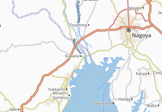 Mapa Plano Kuwana