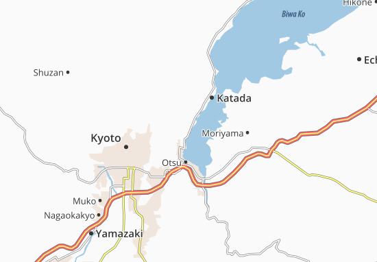 Kaart Plattegrond Shimo-Sakamotocho