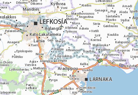 Kaart Plattegrond Athienou