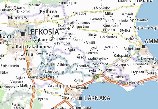 Kaart Plattegrond Arsos