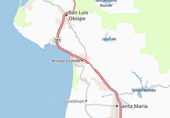 Carte-Plan Arroyo Grande