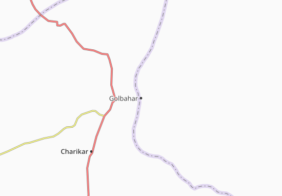 Map Of Golbahar Michelin Golbahar Map ViaMichelin - Charikar map