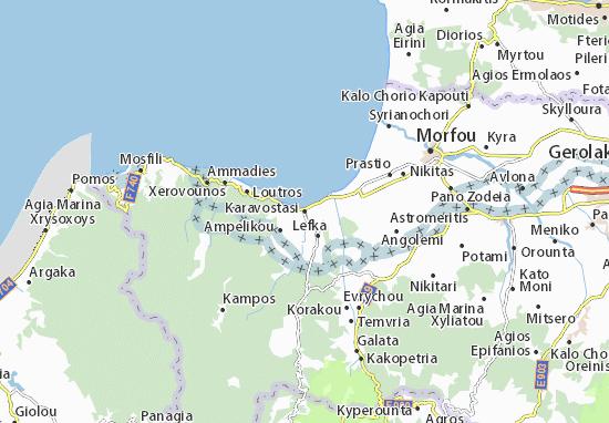 Kaart Plattegrond Karavostasi