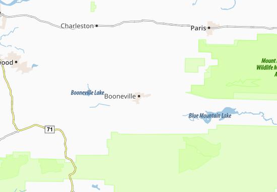Mapas-Planos Booneville