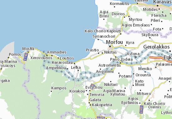 Kaart Plattegrond Pentageia