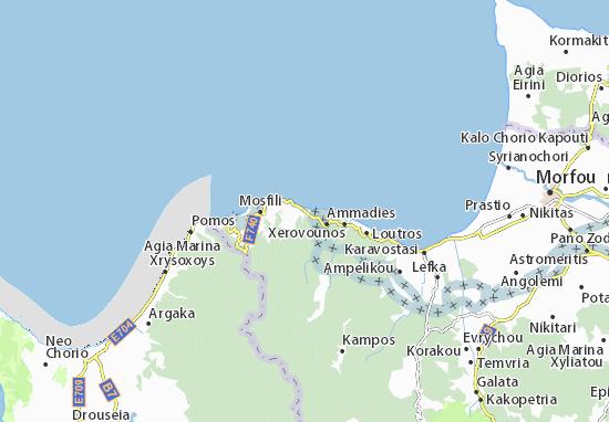 Karte Stadtplan Kato Pyrgos
