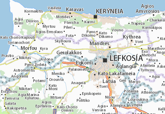 Mapa Plano Gerolakkos