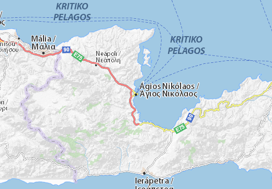 Carte-Plan Ágios Nikólaos