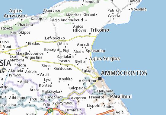Kaart Plattegrond Limnia