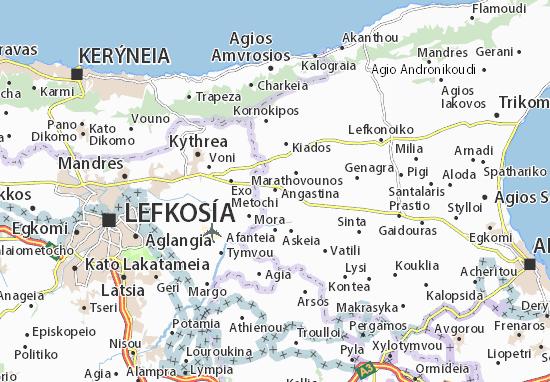 Karte Stadtplan Angastina