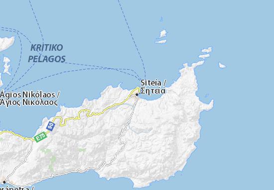 Mapa Plano Siteía