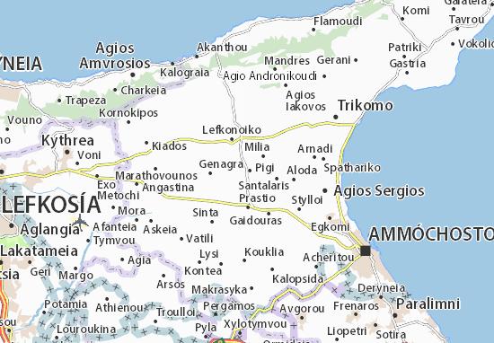 Kaart Plattegrond Peristerona