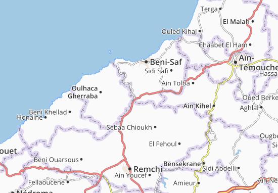 Carte-Plan El Emir Abdelkader