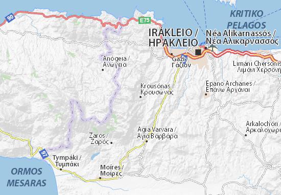 Krousónas Map