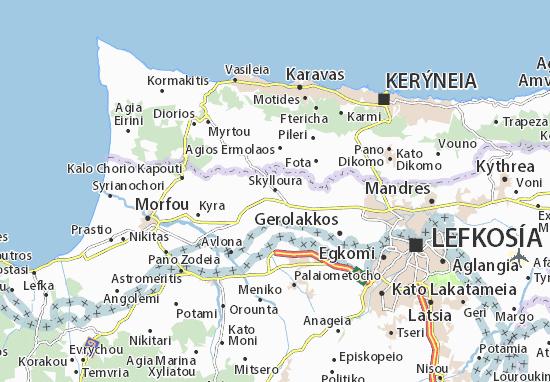 Kaart Plattegrond Skylloura