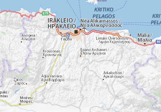Epano Archanes Map