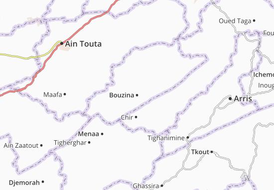 Carte-Plan Bouzina