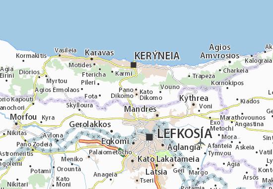 Mapa Plano Kato Dikomo