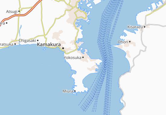 Yokosuka Map Detailed Maps For The City Of Yokosuka Viamichelin