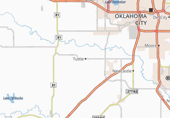Kaart Plattegrond Tuttle