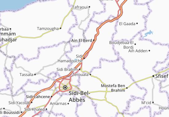 Carte-Plan Sidi Hamadouche