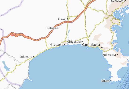 Hiratsuka Map: Detailed maps for the city of Hiratsuka
