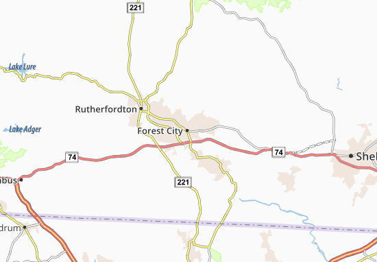 Forest City Map