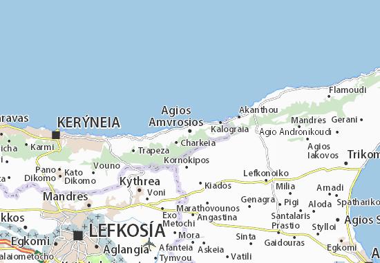 Mapas-Planos Agios Amvrosios