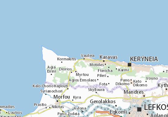 Kaart Plattegrond Vasileia