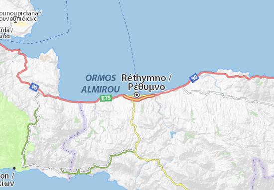 Réthymno Map