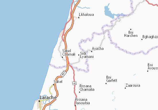 Mapa Plano Sidi Lyamani