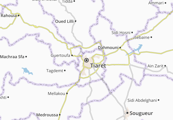 Carte-Plan Tiaret