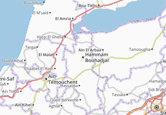 Carte-Plan Hammam Bouhadjar