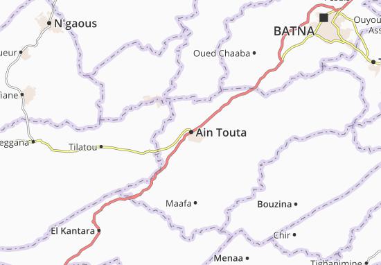 Map of Ain Touta - Michelin Ain Touta map - ViaMichelin