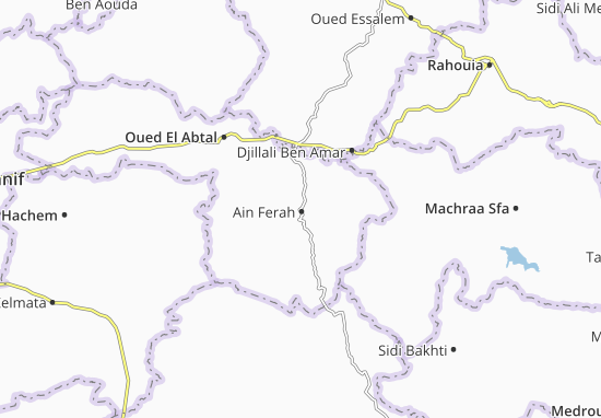 Carte-Plan Ain Ferah